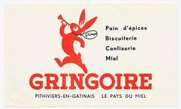 Buvard  21 X 13.6  Biscottes GRINGOIRE Pithiviers En Gatinais  Rouge (autre Vente: Vermillon) - Biscottes