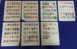 Turkey Used Stamps 170 Hinged On 7 Pages Collection - Türkei