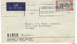 21024 - De COLOMBO Pour L'Allemagne - Sri Lanka (Ceylon) (1948-...)