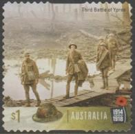 AUSTRALIA - DIE-CUT-USED 2017 $1.00 Centenary Of World War I 1917: Third Battle Of Ypres - Soldiers - 2010-... Elizabeth II