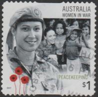 AUSTRALIA - DIE-CUT-USED 2017 $1.00 Women In War - Peacekeeping - 2010-... Elizabeth II