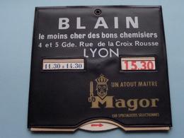 Disque De Stationnement / Parkeerschijf ( Publi / Reclame : BLAIN > MAGOR à LYON ) Année ? ( See / Voir / Zie Photo ) ! - Voitures