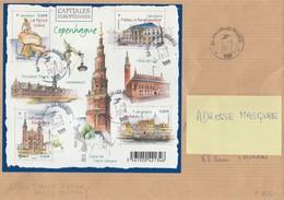 BLOC COPENHAGUE - F 4637 SEUL SUR LETTRE TOULON AU TARIF (250gr) 1/08/2012                          TDA253 - France