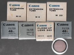 CANON EXTENSION TUBE  M5.10.20 ET FILTRES 48 MM - Matériel & Accessoires