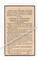 LODEWIJK PORTAUWE ° ST.JORIS -WINGHE 1864 + 1936 /VOORZITTER KERKFABRIEK EN ARMENRAAD - Imágenes Religiosas