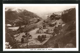 CPA Sandy Bay, Looking East, Vue De Häuser In Bergiger Landschaft - Saint Helena Island