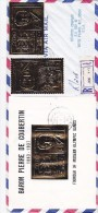 Ras Al Khaima,com.Regt.letter 1969 To USA Frank.Courbertin Olym.GOLD Perf+Imperf S.sheet- Fine- - Ras Al-Khaima