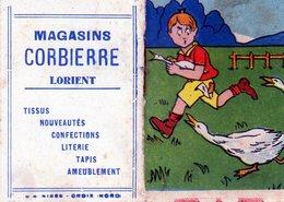 Lorient. Très Joli Mini-calendrier De 1933. Magasins Corbière à Lorient. - Calendari