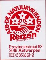Sticker Autocollant ATB De Natuurvrienden Reizen Provinciestraat Antwerpen Aufkleber Adesivo - Autocollants