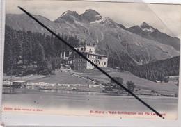 Suisse ; Saint Moritz - Wald ,Schlösschen Mit Piz Languard - GR Grisons