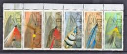 Canada 1998 Fishing Flies Set As Strip Of 6 MNH - 1952-.... Reign Of Elizabeth II