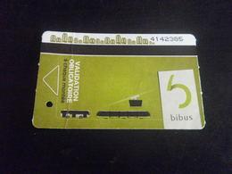 Titre De Transport - BREST - Carte 10 Voyages - 5 Non Utilisés - Tramways