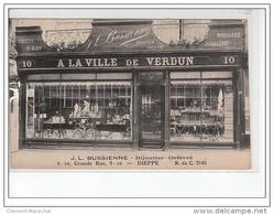 """DIEPPE - """"""""""""""""A La Ville De Verdun"""""""""""""""" JL Bussienne - Bijoutier - Orfèvre - Très Bon état - Dieppe"""