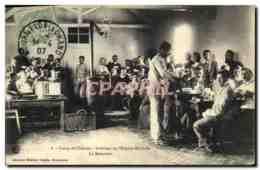 CPA Sante Militaria Camp De Chalons Interieur De L&#39hopital Militaire Le Refectoire - Health