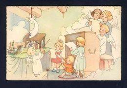 Carte Postale Illustree: Noel, Enfants, Creche, Anges (113240) - Illustrateurs & Photographes