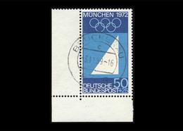 BRD 1969, Michel-Nr. 590, Olympische Sommerspiele München, 50 Pf., Eckrand Links Unten, Gestempelt - [7] West-Duitsland