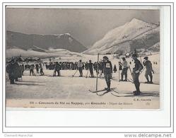 LE SAPPEY, Près GRENOBLE - Concours De Ski - Départ Des Skieurs - Très Bon  état - Andere Gemeenten