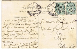 DAGUIN SOLO PARIS XVIII R DE CLIGNANCOURT SUR CPA - Poststempel (Briefe)