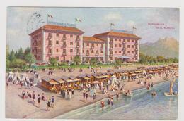 Grande Albergo Milano Ungaria, Riccione Adriatico, Pubblicitaria - F.p.-  Anni '1920 - Pubblicitari