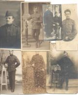 Lot De 18 Photos Cartes - Armée Belge (b255) - Personnages