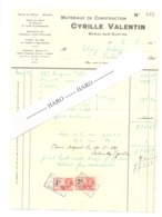 Facture - Matériaux De Construction Cyrille VALENTIN à BOMAL Sur OURTHE En 1934 (b258) - Belgique