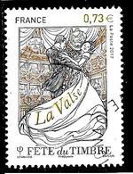 FRANCE 5130° 0,73€ Multicolore Et Or Fête Du Timbre 2017 Danse La Valse (10% De La Cote + 0,15) - France