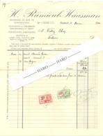 Facture - Matériaux Et Bois De Construction  H RAMIOUL - HAUSMAN à HAMOIR En 1934 (b258) - Belgique