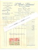 Facture - Pierres Et Monuments Funéraires L. PIRET - LIBERME à SPRIMONT  En 1934 (b258) - Belgique