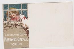 Cioccolato E Cacao Moriondo E Gariglio, Torino, Pubblicitaria - F.p. - Fine '1800 / Primi '1900 - Pubblicitari