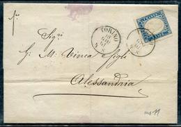ITALIE - SARDAIGNE - N° 12 / LETTRE DE TORINO LE 18/7/1861 POUR ALEXANDRIE - TB - Sardaigne