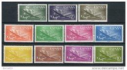 España 1955. Edifil 1169-79 ** MNH - 1931-Today: 2nd Rep - ... Juan Carlos I