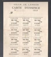 Langon (33 Gironde) Carte D'essence 1918  (au Verso Un Reçu Manuscrit)  (PPP19737) - Vieux Papiers