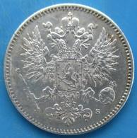 FINLANDE 50 Pennia Aigle Bicéphale 1917, SUP - Finlandia