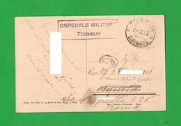 Annullo Ospedale Militare Tobruk 1913 Libia Libya X Ten. Collonnello Medico Di Roma - Militaria