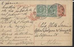 STORIA POSTALE REGNO - ANNULLO FRAZIONARIO DC -  GHIFFA/(41-118) 27.07.1925 SU INTERO MICHETTI - Marcophilie