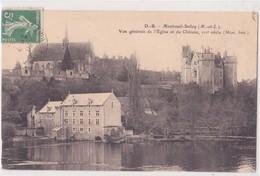 CPA - MONTREUIL BELLAY - Vue Générale De L'église Et Du Château - Montreuil Bellay