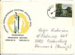 Lithuania Cover Sent To Denmark Kaunas 3-10-2001 - Lithuania