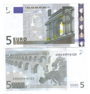 5 €  ITALIA FDS UNC J001D5 Duisenberg Variante B Cod.€.147 - 5 Euro