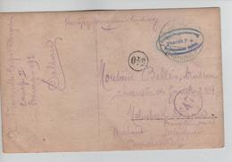 PR6741/ CP PDG-POW Fronville Corps Volontaires Congolais C.Soltau 1916 Geprüft > Molenbeek St.Jean Document RARE - WW I