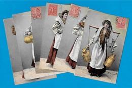 CPA Fantaisie (Lot De 6) Métier LAITIERE * Lait Milk Agriculture Costume - Berufe