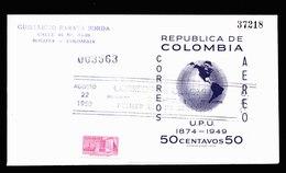 A6272) Colombia Kolumbien 2 Briefe 1950 - Kolumbien