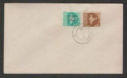 Congo 1962  India O/P  U.N. FORCE  CONGO  8 NP + India 2 NP FPO NO 660  First Day Cover  # 21231  D  Inde  Indien - FDC