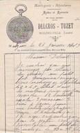 MALZIEU VILLE DELCROS TUZET HORLOGERIE BIJOUTERIE MODES ET MERCERIE ANNEE 1915 - France