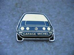 Pin's Du Garage MICHEL, Concessionnaire Wolkswagen. Golf Série 1 - Volkswagen