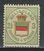 Helgoland Mi 17, SG 12 * MH Neudruck - Héligoland