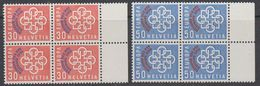 Switzerland 1959 PTT Conference 2v Bl Of 4 ** Mnh (44176) - Europese Gedachte