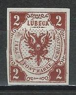 Lübeck Mi 3 (*) No Gum - Luebeck