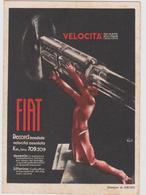 FIAT, Record Mondiale Velocità, Pubblicitaria, Illustrata Da Mario SIRONI  - F.G. -  Anni '1930 - Pubblicitari