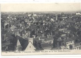 82. TROYES . PANORAMA SUD-OUEST . VUE PRISE DE LA TOUR SAINTE-MADELEINE . CARTE NON ECRITE - Troyes