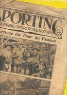 SPORTING Arrivée Tour De France 1922 LAMBOT, HEUSGHEM, ALAVOINE 24 Pages Format 27 X 37 Cm Env.. - Cyclisme